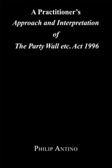 A&A Party Wall services in Havering. Screenshot of Philip Antino Party Wall book.